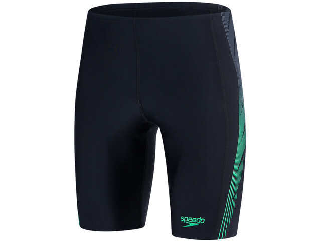 speedo Placement Panel Jammer Men Black/USA Charcoal/Fake Green